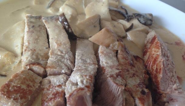 veau aux cèpes