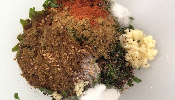 Mélange herbes épices pour falafels