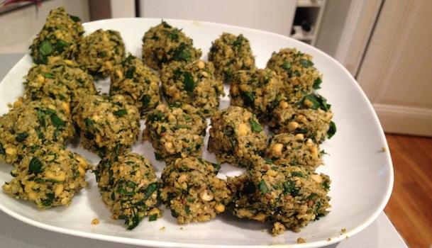 boulettes falafels avant cuisson
