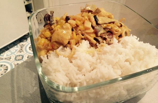 Poulet au Massaman et riz