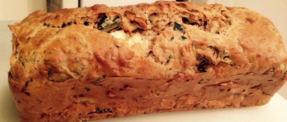 Cake Chevre Olive Verte