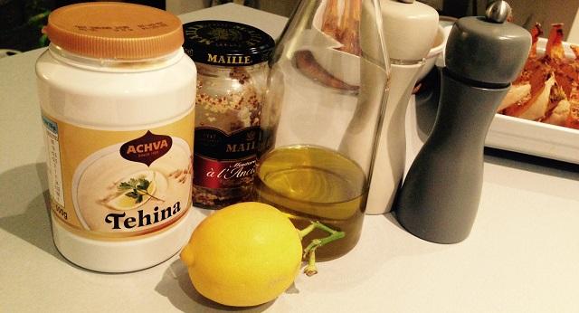ingrédients sauce tahini