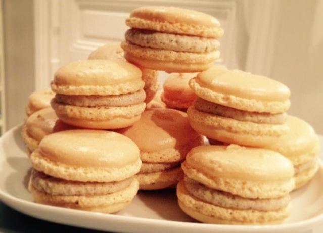 macarons vanille et ganache chocolat blanc