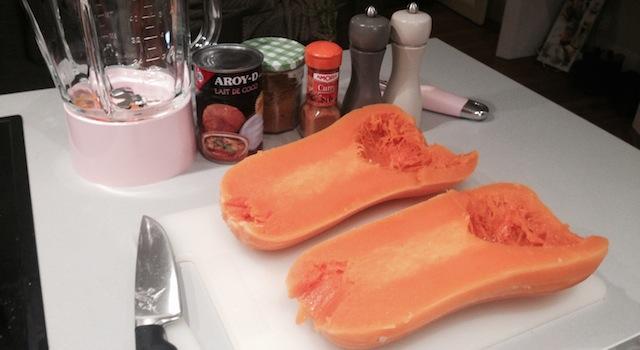 cuisson du butternut pour velouté