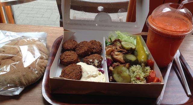 falafel street food à londres