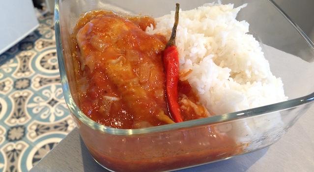 poulet dressé façon ivoirienne et piment léger