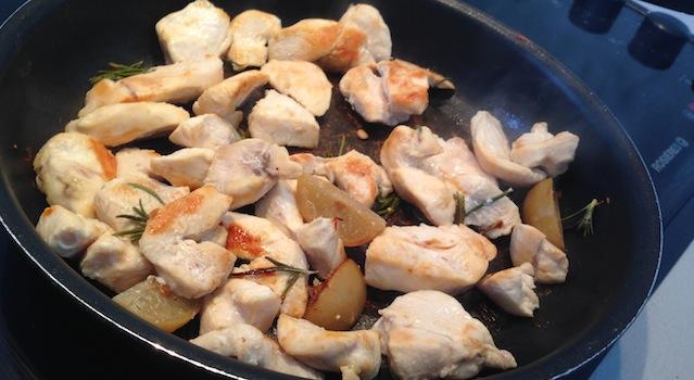 poulet grillé citron confit et romarin