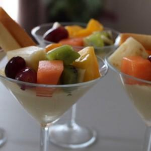 crème coco aux fruits exotiques
