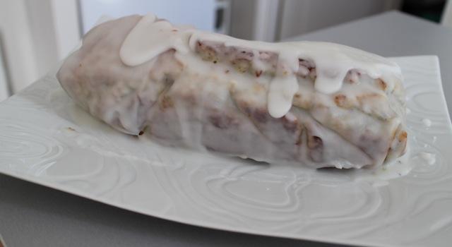 cake glacé au sucre glace et jus de citron - Cake énergisant citron - pavot