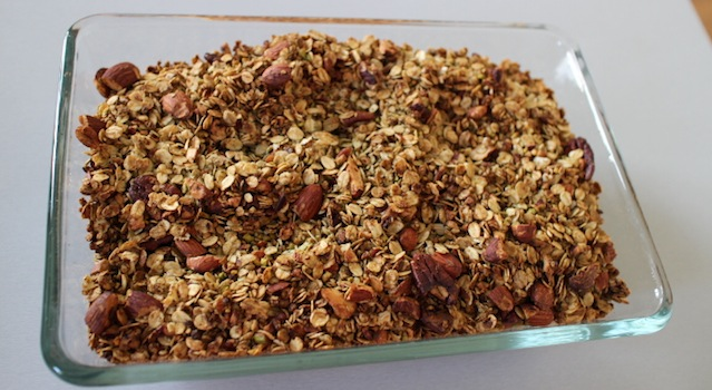 granola bien doré et grillé - Granola pistache naturel