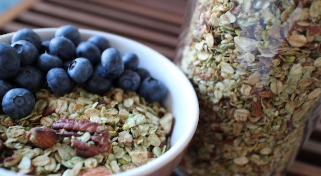 index glycémique bas et fibres naturelles - Granola pistache naturel