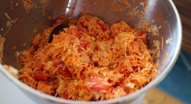 mélanger la salade de papaye - Salade de papaye verte de Koh Samui.JPG