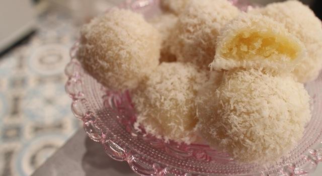 perle de coco au coeur au goût d'oeuf et de baurre - perles de coco au rice cooker
