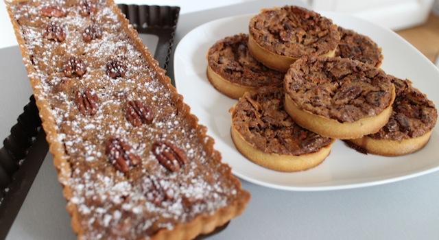 tarte à partager ou tartelettes - The American pecan pie - La véritable tarte aux noix de pecan