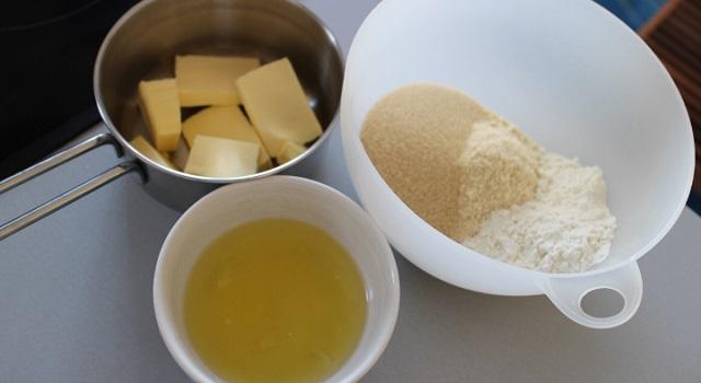 préparer les ingrédients des Financiers au maracuja