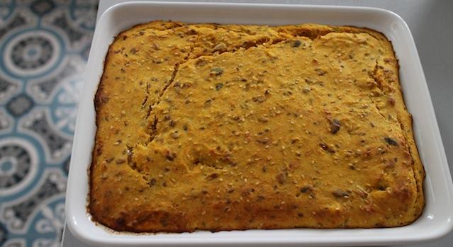 après 30 minutes de cuisson - Gâteau moelleux et fondant de butternut