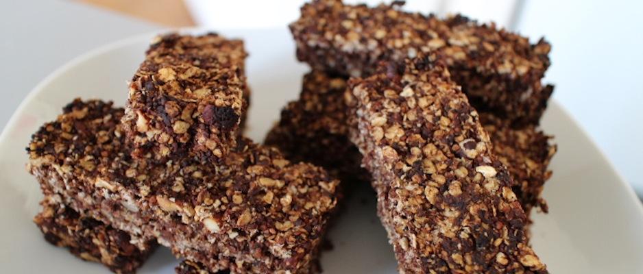 contrôler ses apports en graisses et sucres - Barres de céréales maison Coco-Choco-Noisettes