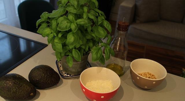 ingrédients Sauce pesto légère et healthy