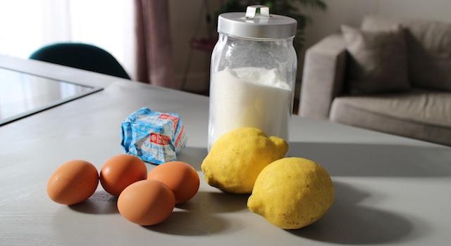 ingrédients du Lemon curd maison