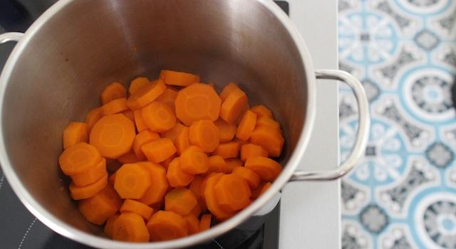 carottes cuites - Salade cuite de carottes à la fleur d'oranger