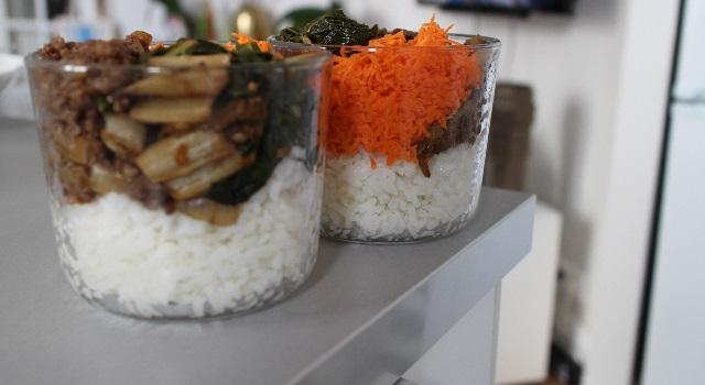 mélange de légumes riz et viande un plat équilibré - Un bibimbap fait maison
