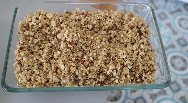 mettre à cuire les céréales - Céréales maison chocolat & noisettes
