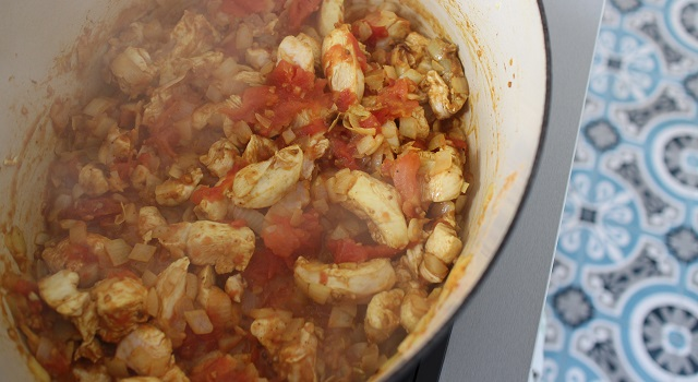 saisir le poulet - Poulet tikka massala