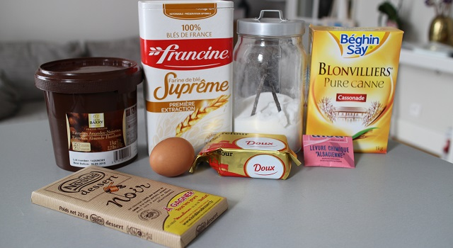 ingrédients Extra soft cookies chocolat et praliné