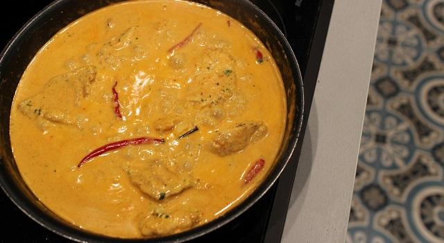 plat mijoté et délicieux - Curry sexy cabillaud, coco, piment