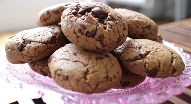 servir les cookies au gouter - Extra soft cookies chocolat et praliné