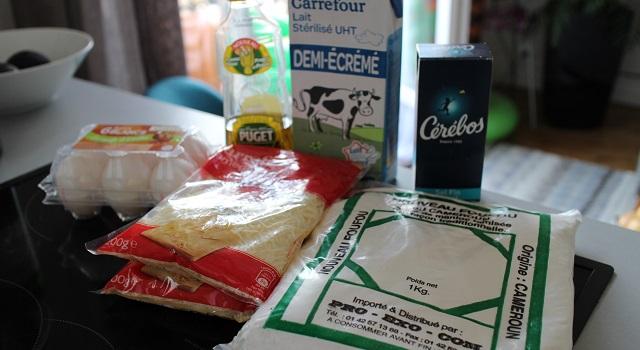 ingrédients recette Paes de queijo do Brazil