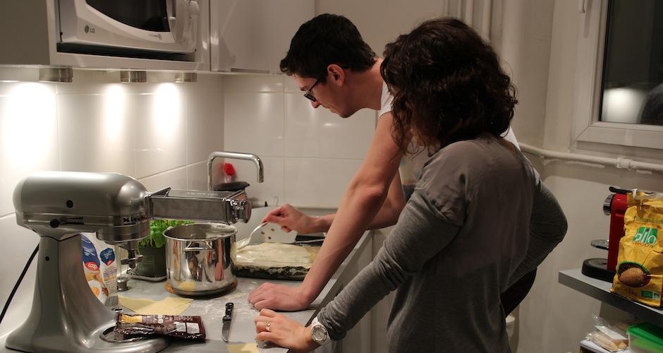assemblage des lasagnes - Le cours de cuisine selon My Beautiful Dinner