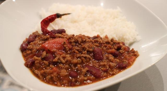 dresser le chili avec du riz - Chili con carne - le symbole Tex-Mex