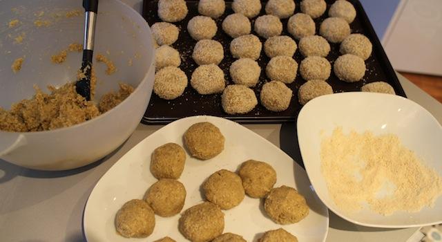 façonnage des boulettes - Falafel light - l'ultime défi