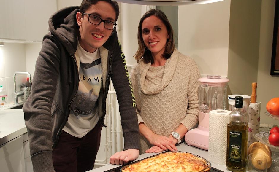 fierté d'avoir réussi des lasagnes maison