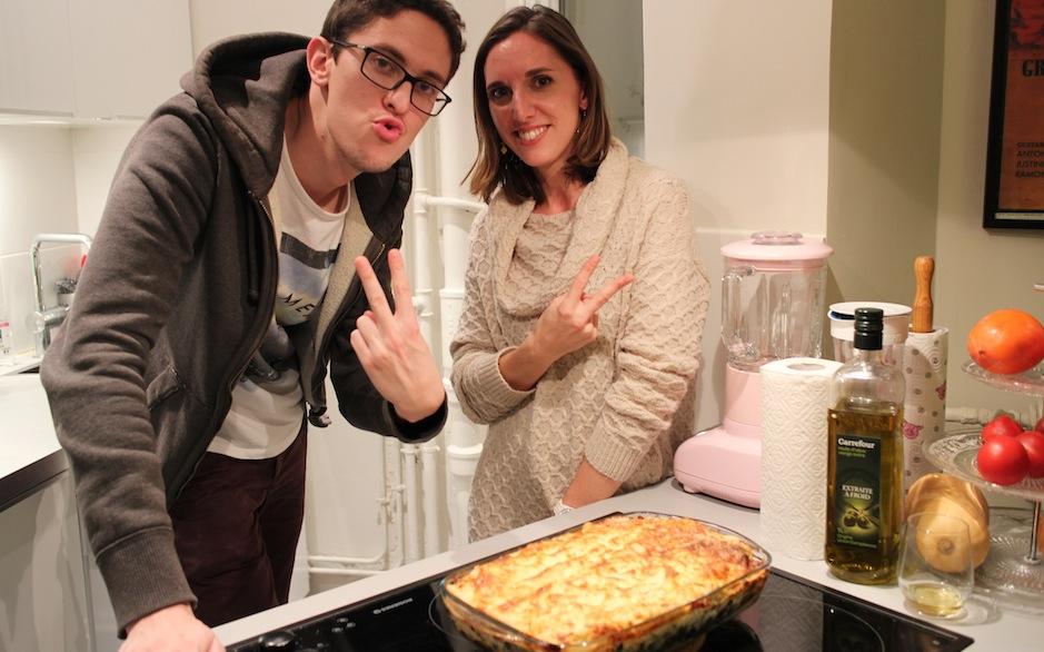 super contents d'avoir fait un cours de lasagnes et chouquettes maison - Le cours de cuisine selon My Beautiful Dinner