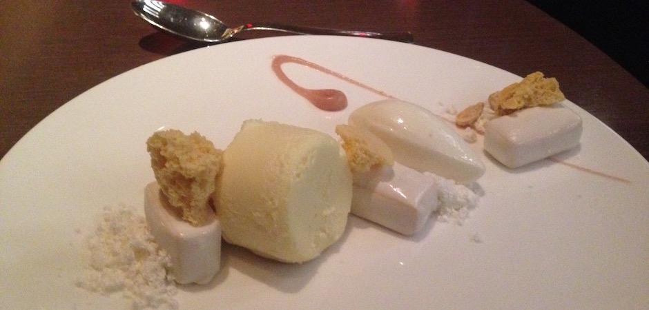 cheese cake destructuré du park hyatt - Pont de Brooklyn Manhattan New-York Foodie - le voyage gastronomique