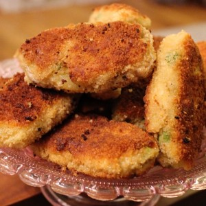 recette des Croquetas de poisson - petits pois & pommes de terre