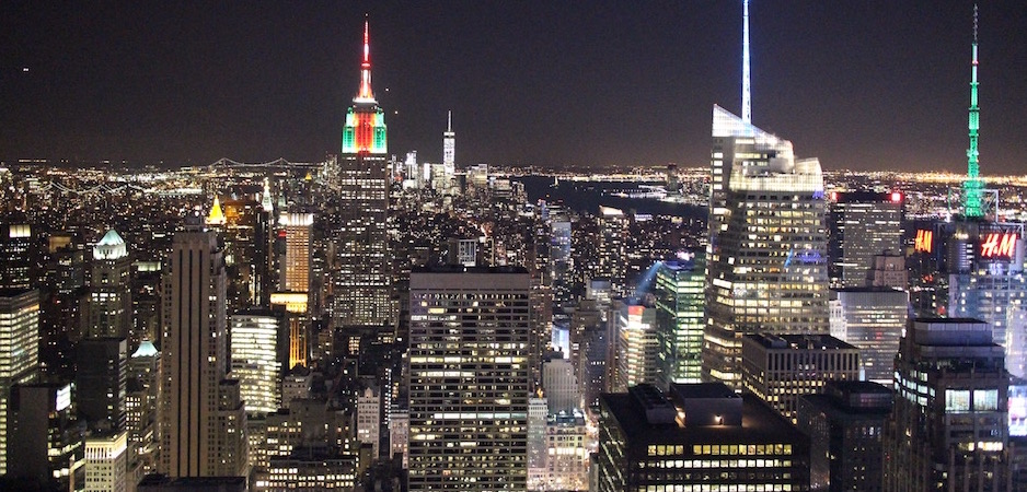 vue de nuit du rockfeller center - Pont de Brooklyn Manhattan New-York Foodie - le voyage gastronomique