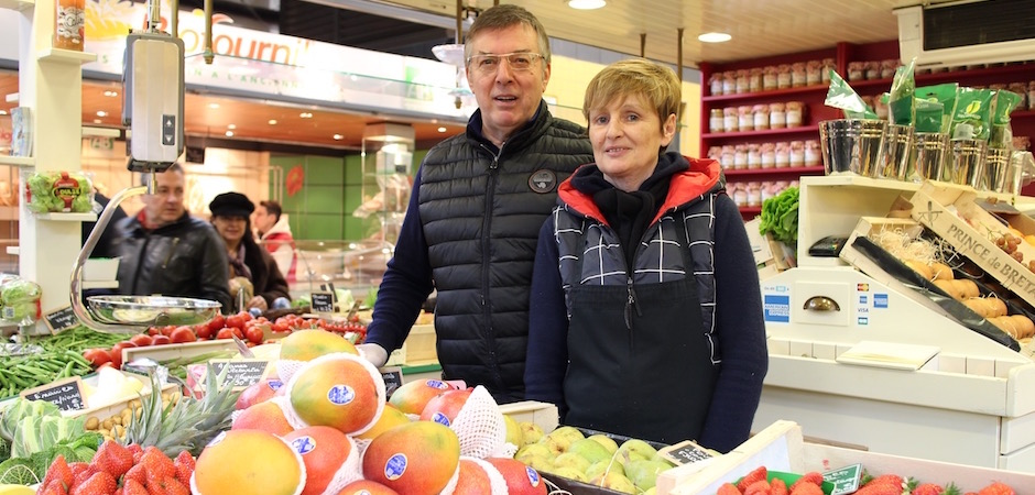 Thierry et Claudine Silloray primeurs - Le marché de Talensac - la visite foodie à Nantes