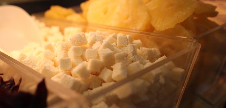 coco en cube deshydratée - Le marché de Talensac - la visite foodie à Nantes