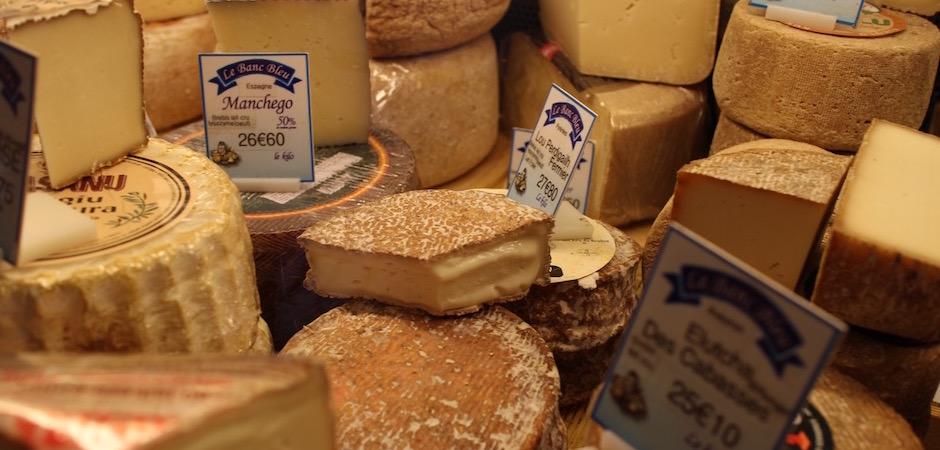 fromage fermier le banc bleu - Le marché de Talensac - la visite foodie à Nantes