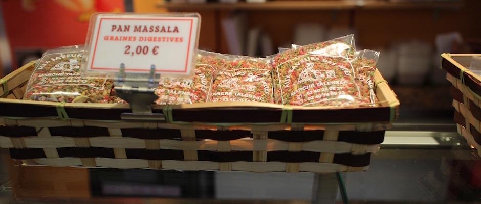 graines digestives indiennes - Le marché de Talensac - la visite foodie à Nantes