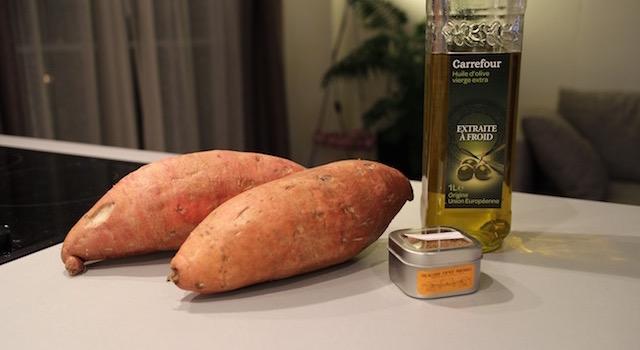 ingrédients - Potatoes de patates douces à la jamaïcaine