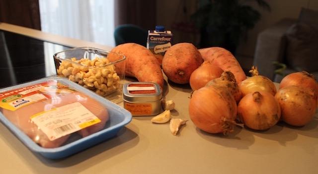 ingrédients Soul Food Poulet Cajou Cajun