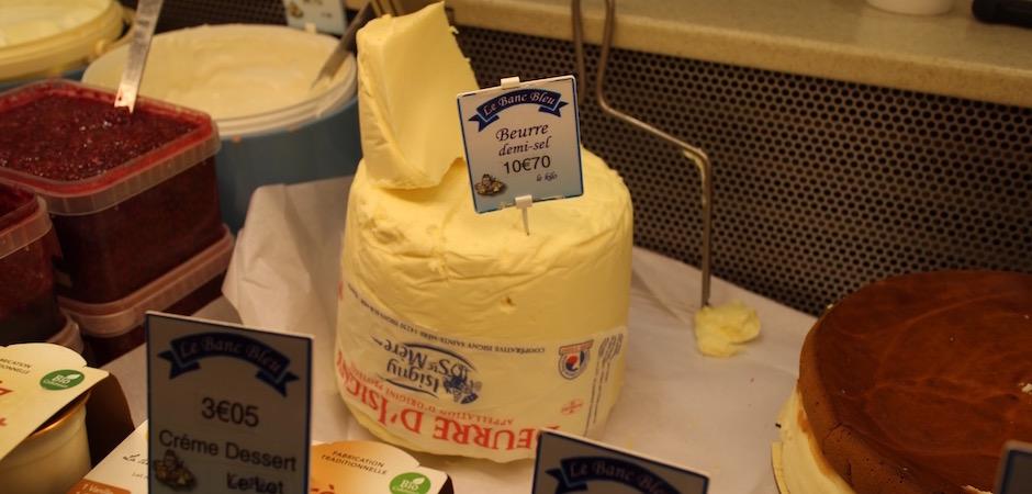 la vraie motte de beurre demi sel - Le marché de Talensac - la visite foodie à Nantes