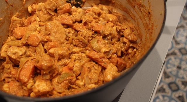 le plat est pret a servir - Soul Food Poulet Cajou Cajun