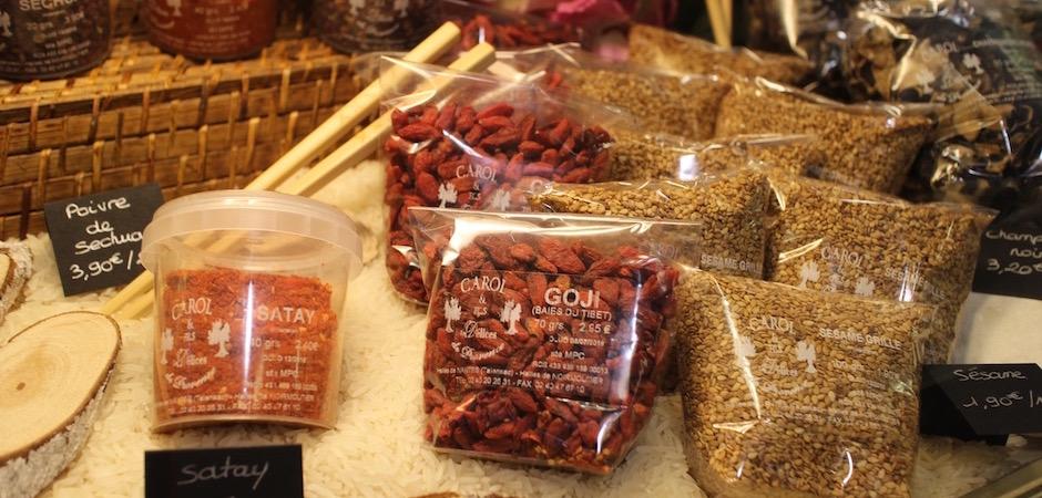 satay sésame goji - Le marché de Talensac - la visite foodie à Nantes