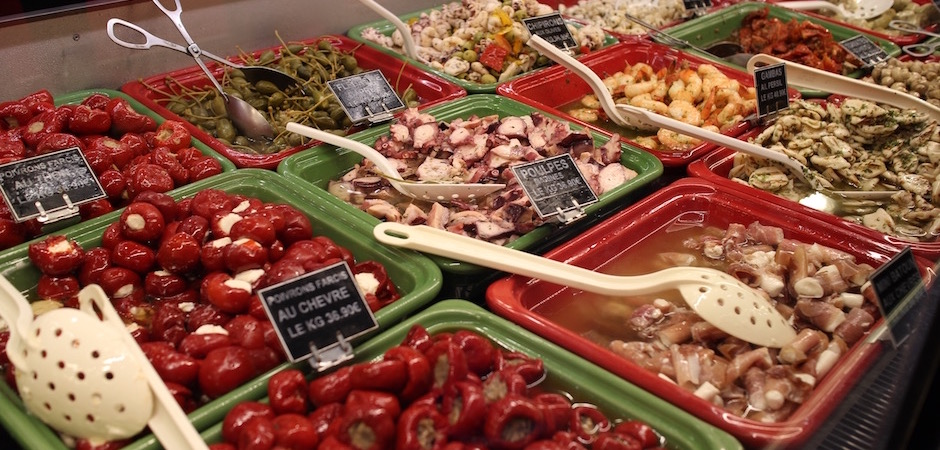 traiteur apéro - Le marché de Talensac - la visite foodie à Nantes