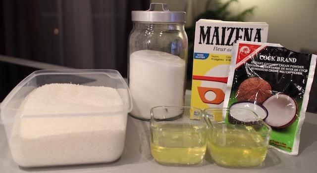 Ingrédients recette Gâteau nuage de coco